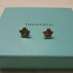Authentic Tiffany star earrings